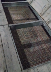 A part of the original mosaic floor from the 4th century.