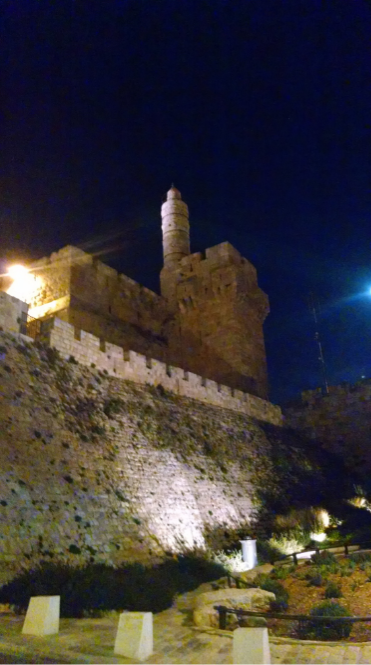 """Tower of David"" probably built by the Ottomans ca. 1300 ce"