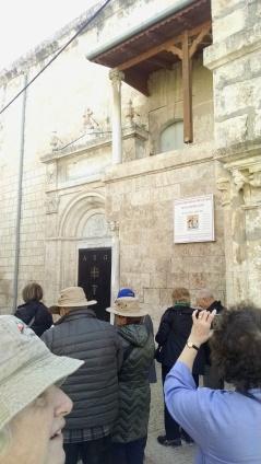 the entrance to St. George Greek Orthodox Church