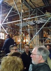 Some of our group waiting for admittance to the holy sites. Note the scaffolding. Much of the building is under repair.