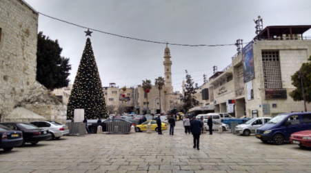The plaza outside the Church of the Nativity.